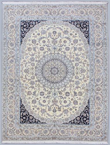 Nain Fine 6la Ivory Persian Rug (Ref 14) 350x255cm