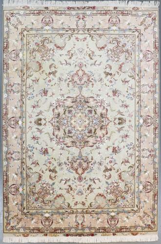 Tabriz Wool & Silk Fine 50 Raj Floral Persian Rug (Ref 54) 302x201cm