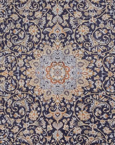 Kashan Classic Navy Vintage Persian Rug (Ref 99) 375x265cm