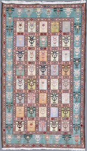 Ardabil Pure Silk Persian Soumak Kilim (Ref 137) 200x130cm