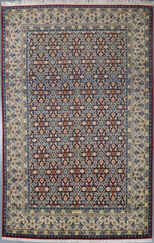 Birjand Navy Blue Persian Rug (Ref 3913) 317x208cm