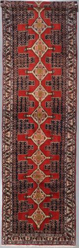 Senneh Vintage Fine Persian Runner (Ref 79) 340x95cm