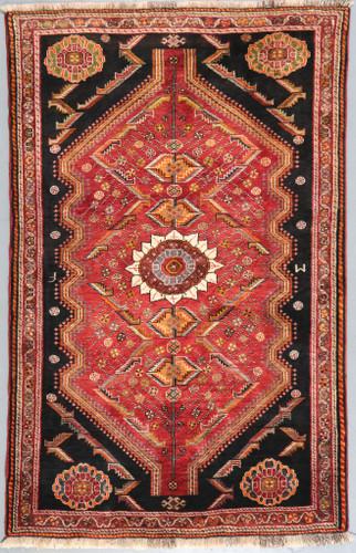 Shiraz Qashqai Fine Vintage Persian Rug (Ref 42) 175x110cm