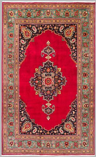 Tabriz Central Medallion Vintage Persian Rug (Ref 102) 300x190cm