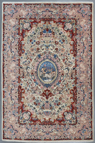 Kerman Pictorial Vintage Persian Rug (Ref 376) 300x200cm