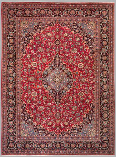Kashan Regal Red Fine Persian Rug (Ref 42) 410x305cm