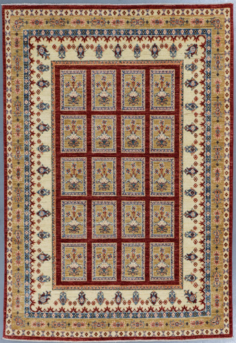 Chobi Fine Panel Veggie Dye Rug (Ref 391) 216x150cm