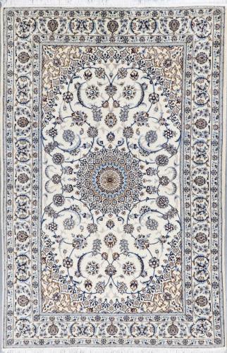 Nain Vintage Fine Wool & Silk Inlay 9la Persian Rug (Ref 65) 307x200cm