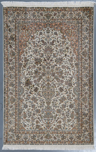 Kashmir Pure Silk Rug (Ref 14) 188x126cm