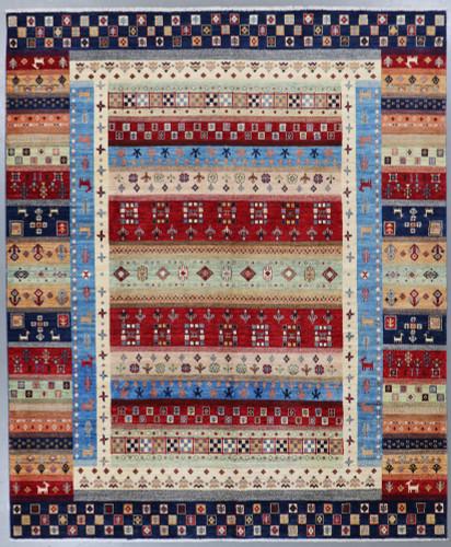 Pictorial  Suzani Fine Veg Dye Rug (Ref 370) 307x245cm