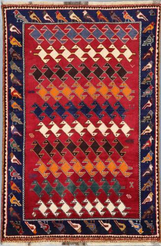 Shiraz Qashqai Fine Vintage Persian Rug (Ref 39) 175x115cm