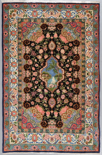 Isfahan Fine Pictorial Persian Rug (Ref 29) 165x110cm