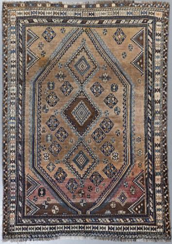 Shiraz Qashqai Vintage Persian Rug (Ref 49) 215x153cm