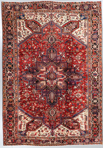 Heriz Fine Vintage Persian Rug (Ref 415) 358x244cm