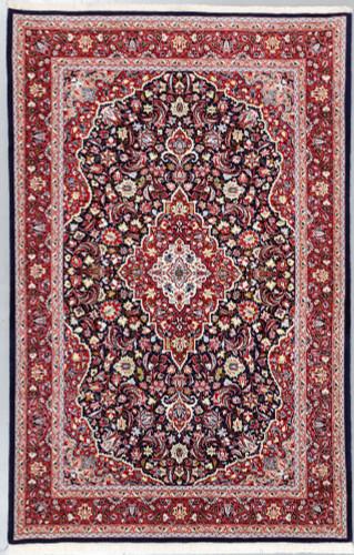 Jozan Fine Silk Inlay Persian Rug (Ref 1654.1) 207x133cm