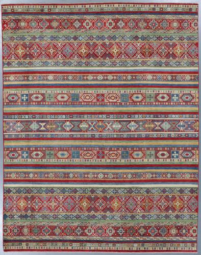 Kazak Suzani Linear Veg Dye Rug (Ref 2857) 303x238 cm
