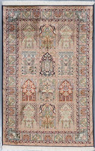 Kashmir Pure Silk Rug (Ref 339) 199x126cm