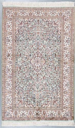 Kashmir Blue Pure Silk Rug (Ref 1183) 150x98cm