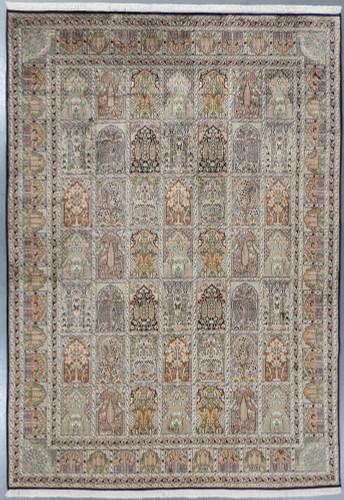 Kashmir Fine Pure Silk Rug (Ref 1047) 353x246cm