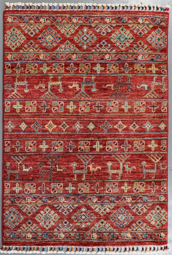 Kazak Suzani Khorjin Fine Veg Dye Rug (Ref 111) 114x80cm