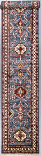 Kazak Farahan Veggie Dye Runner (Ref319) 463x75cm