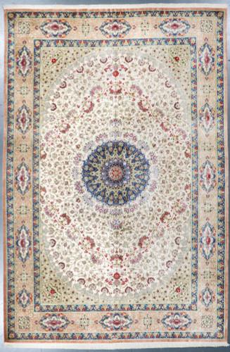 Pure Silk Qum Fine Inscribed Persian Rug (Ref 2378) 295x195cm