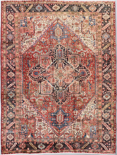 Heriz Fine Vintage Veg Dye Village Persian Rug (Ref 363) 350x260cm