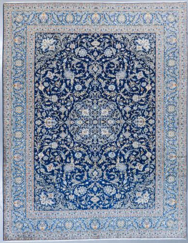 Kashan Classic Navy Vintage Persian Rug (Ref 52) 410x310cm