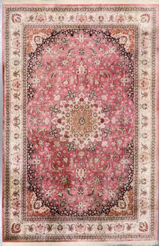 Qum Pure Silk Vintage c1970 Persian Rug (Ref 81) 300x197cm