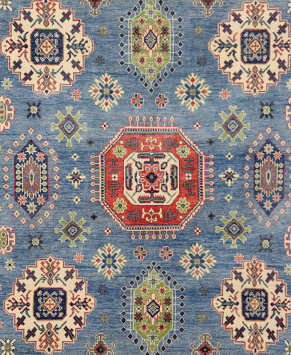 Kazak Marine Blue Veg Dye Rug (Ref 115) 359x266cm