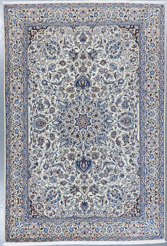 Nain Fine Wool & Silk Inlay 9la Persian Rug (Ref 86) 310x200cm