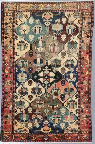 Bakhtiari Garden Panel Persian Antique Rug (Ref 8) 213x136cm