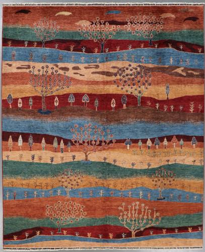 Khorjin Chobi Pictorial Fine Veg Dye Rug (Ref 403) 296x244cm