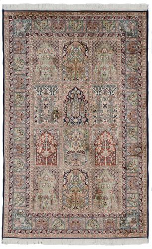 Kashmir Pure Silk Rug (Ref 339a) 199x126cm