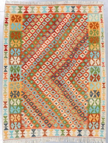 Veg Dye Afghan Kilim (Ref 75) 200x161cm