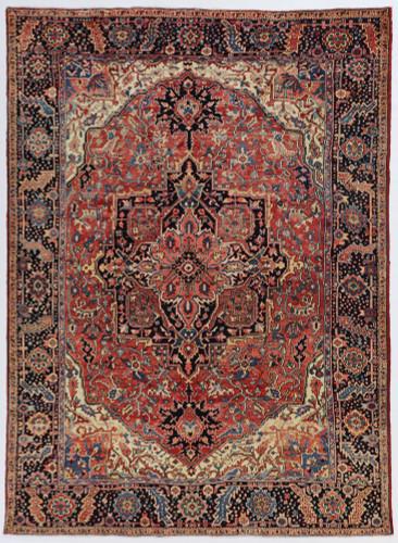 Heriz Fine Vintage Veg Dye Village Persian Rug (Ref 66) 335x250cm
