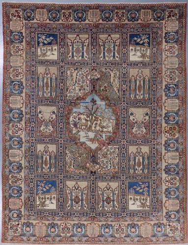 Tabriz  Rare Panel Antique  Persian Rug c1900 (Ref 9) 390x285cm