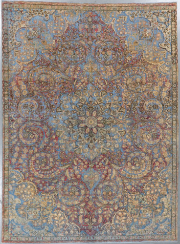 Kerman Vintage Zero Pile Persian Rug (Ref 15) 340x245cm