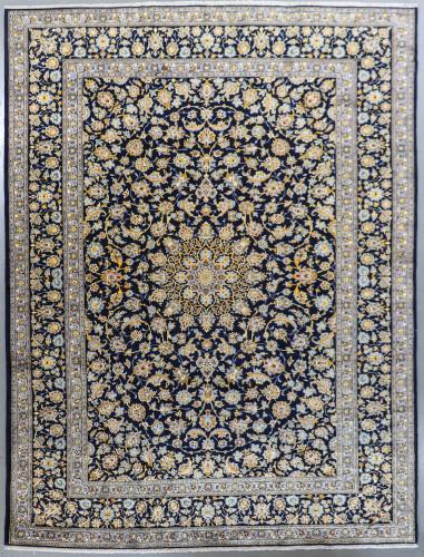 Kashan Classic Navy Vintage Persian Rug (Ref 638) 403x295cm
