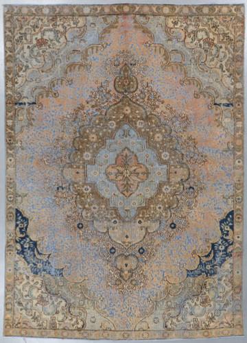 Tabriz  Vintage Zero Pile Persian Rug (Ref 16) 320x226cm