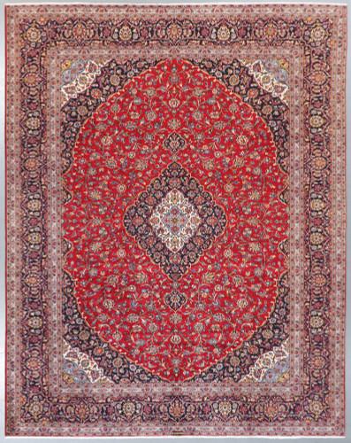 Kashan Kork Wool Persian Rug (Ref 462) 395x300cm