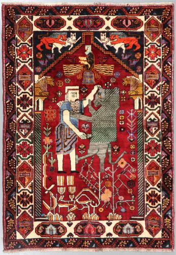 Shiraz Qashqai Fine Pictorial Persian Rug (Ref 350) 173x125cm