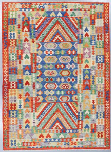 Veg Dye Afghan Kilim Fine (Ref 9294) 353x256cm
