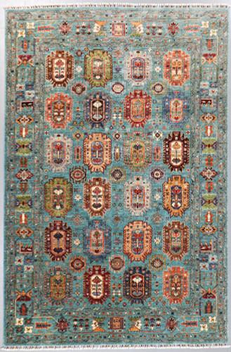 Kazak Suzani Khorjin Fine Veg Dye Rug (Ref 818) 318x210cm