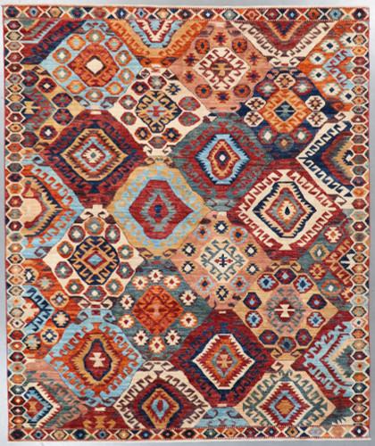Afghan Revival Luristan Khorjin Fine Veg Dye Rug (Ref 823) 295x245cm