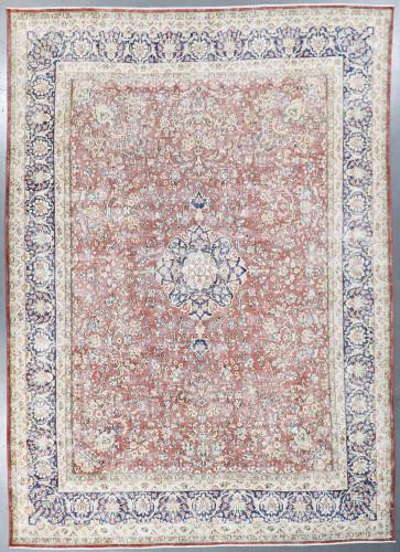 Kashan Vintage Zero Pile Persian Rug (Ref 909) 378x267cm