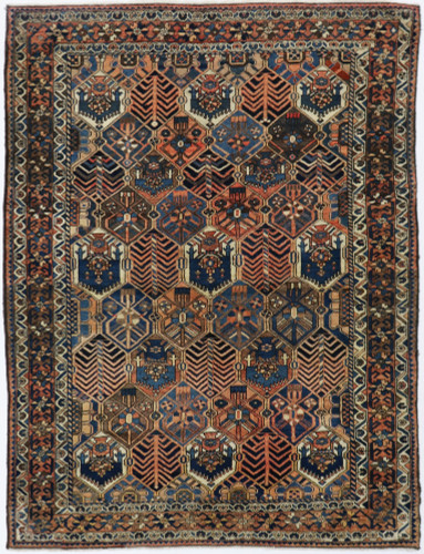 Bakhtiari Antique Persian Rug (Ref 115) 210x170cm