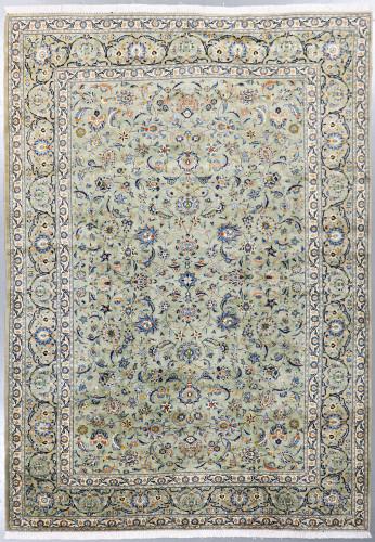Kashan Pistachio Persian Rug (Ref 641) 370x257cm