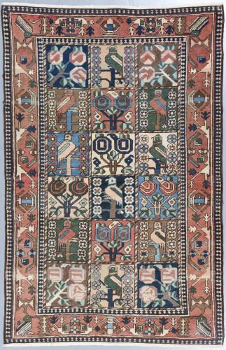 Bakhtiari Antique Persian Rug (Ref 2) 210x136cm