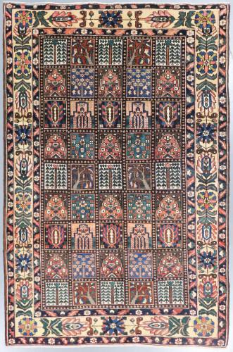Bakhtiari Garden Panel Persian Vintage Rug (Ref 38) 300x205cm